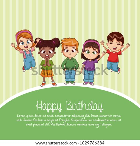 Happy Birthday Card Cartoons Stock Vector Royalty Free 1029766384