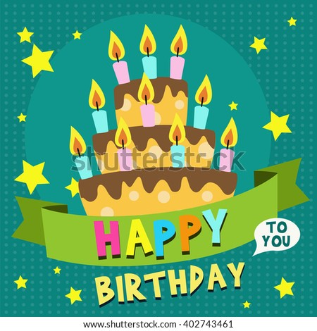 happy birthday card design template image stock vector royalty free
