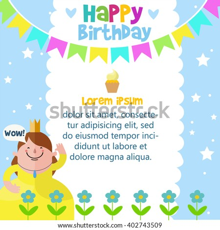Happy Birthday Card Design Template Stock Vector Royalty Free