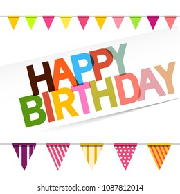 Happy Birthday Card with Flags
