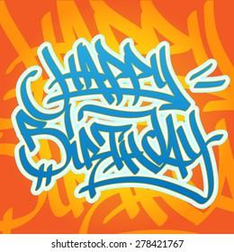 Graffiti Art Wall Funny Birthday Customised Card