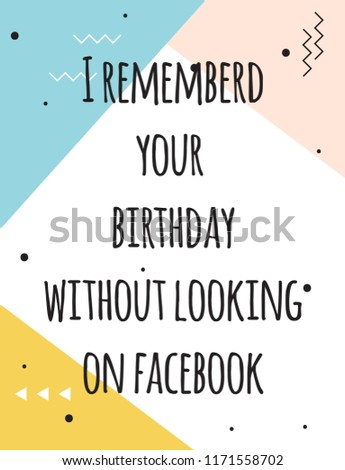 Happy Birthday Card Illustration Vector Format Stock Vector Royalty