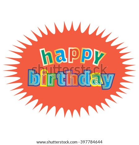 Happy Birthday Card Poster Template Idea Stock Vector Royalty Free