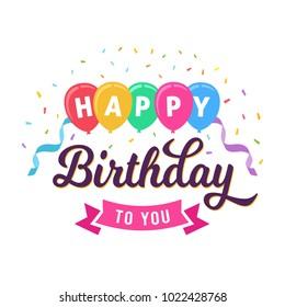 Happy Birthday Card Template Design
