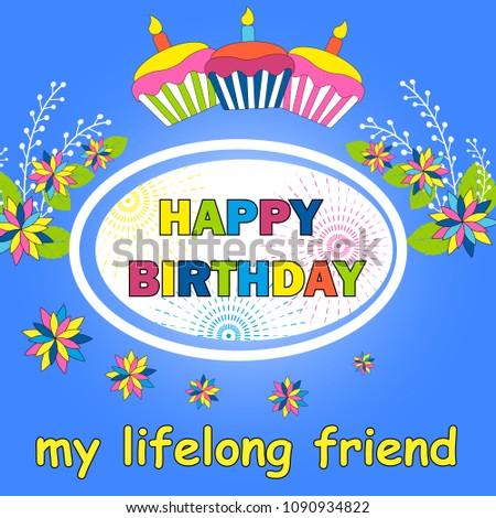 Happy Birthday Card Template Gift Certificate Image Vectorielle De