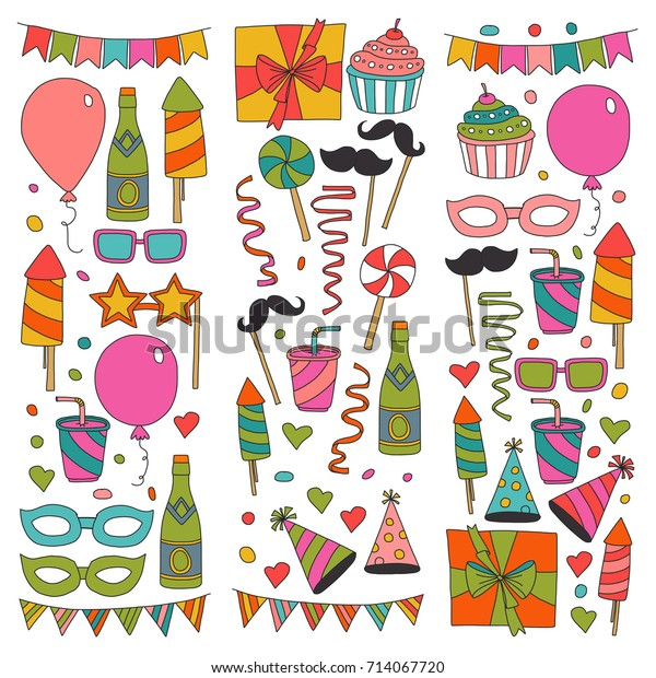 Cool Happy Birthday Card Template Kids Drawing Stock Vector Royalty Personalised Birthday Cards Bromeletsinfo
