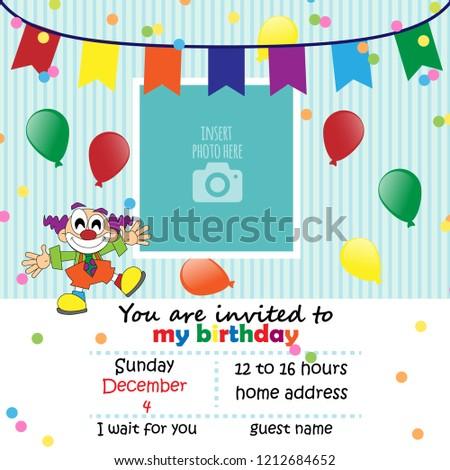 Happy Birthday Card Vector Stock Vector Royalty Free 1212684652