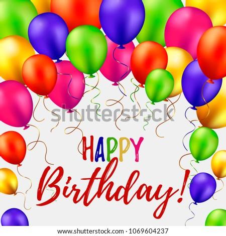 Happy Birthday Card Vector Illustration Stock Vector Royalty Free