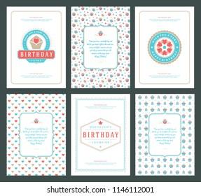 Birthday invitation images stock photos vectors shutterstock happy birthday cards design set vector illustration typographic birthday badge or label with wish message filmwisefo