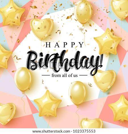 happy birthday celebration typography design greeting のベクター