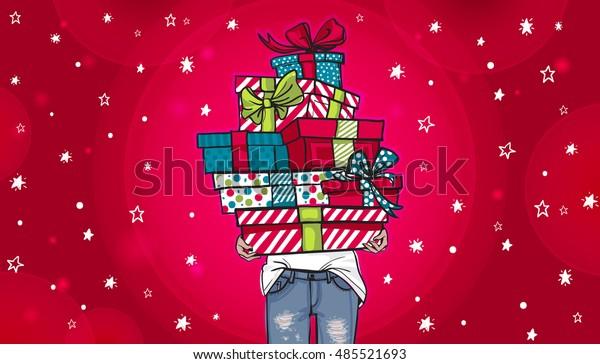 Image Vectorielle De Stock De Carte De Voeux Joyeux Anniversaire Ou 485521693