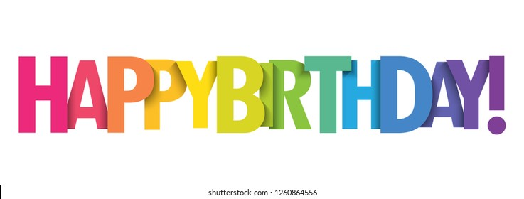 HAPPY BIRTHDAY colorful type banner