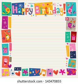 Happy Birthday decorative border