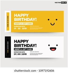 Happy Birthday Emoji Gift Card With Coupon Code and Expiry Date