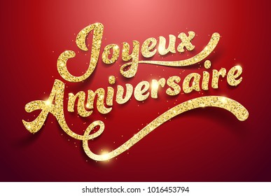 Happy Birthday in French : Joyeux Anniversaire