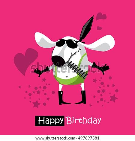 Happy Birthday Funny Card Smile Dog
