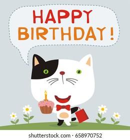 happy birthday cat images stock photos vectors shutterstock