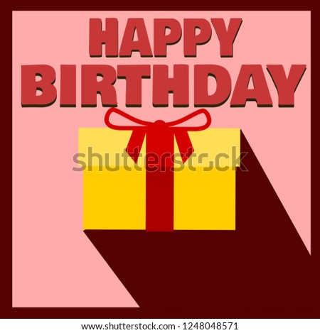 Happy Birthday Gift Wrapped Box Stock Vector Royalty Free