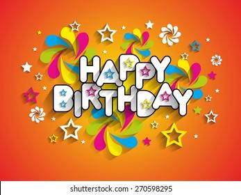 Happy Birthday Greeting Card Background vector Illustration