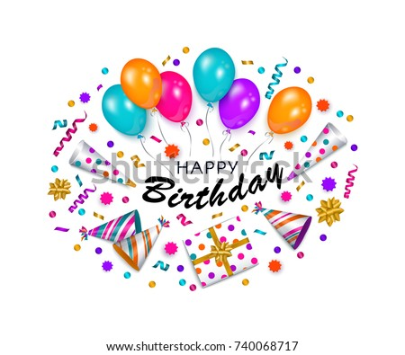 happy birthday greeting card banner poster stock vector royalty