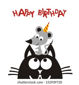 Image result for birthday cat clipart