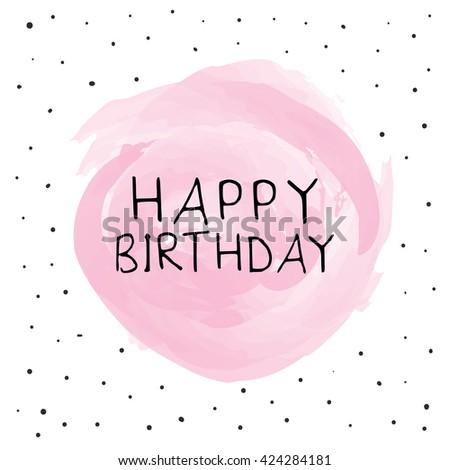 Happy Birthday Greeting Card Design Stock Vector Royalty Free