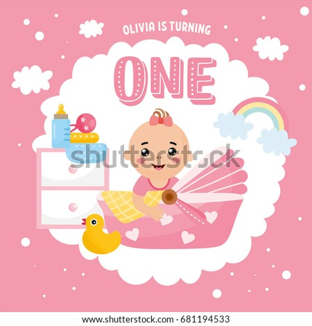 Happy Birthday Greeting Card Design Frame Stock Vector Royalty Free