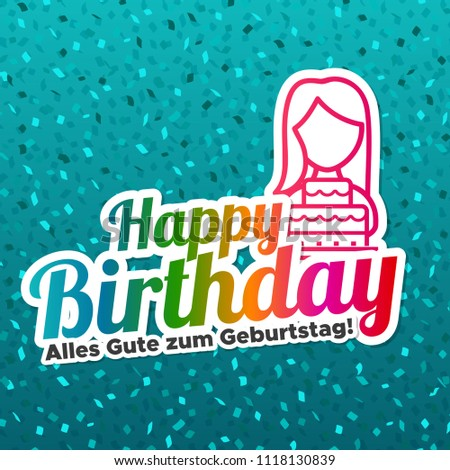 happy birthday greeting card german translation alles gute zum geburtstag