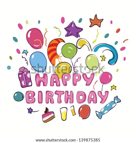 Happy birthday greeting card kids vector stock vector royalty free happy birthday greeting card for kids vector illustration m4hsunfo