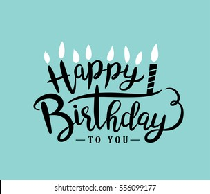 Birthday images stock photos vectors shutterstock happy birthday greeting card with lettering design m4hsunfo