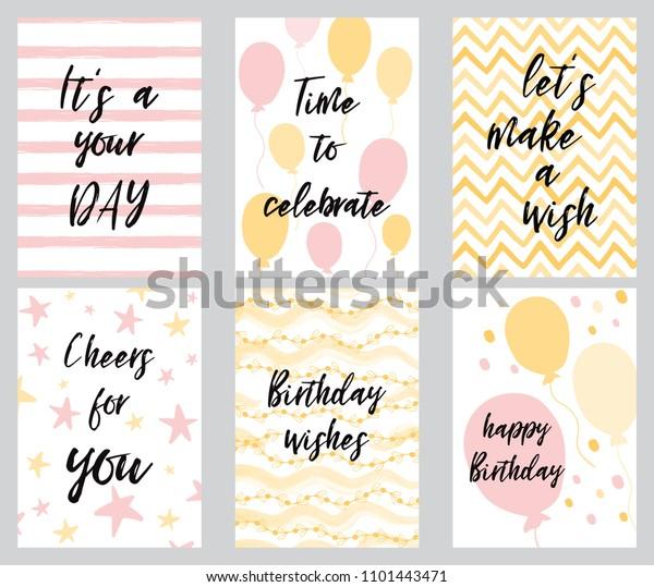 happy birthday greeting card party invitation stock vector