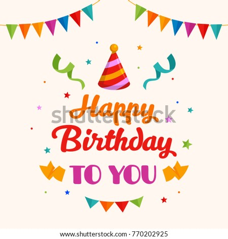Happy Birthday Greeting Card Typography Gift Stock Vector Royalty