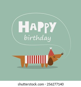 happy birthday greeting card. vector illustration