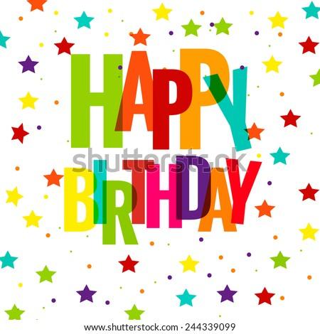 Happy birthday greeting card vector eps stock vector royalty free happy birthday greeting card vector eps 10 illustration m4hsunfo