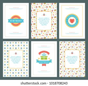 Birthday card images stock photos vectors shutterstock happy birthday greeting cards typographic design set vector illustration vintage birthday badge or label with m4hsunfo