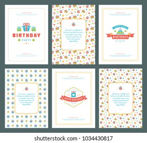 Birthday invitation images stock photos vectors shutterstock happy birthday greeting cards typographic design set vector illustration vintage birthday badge or label with filmwisefo