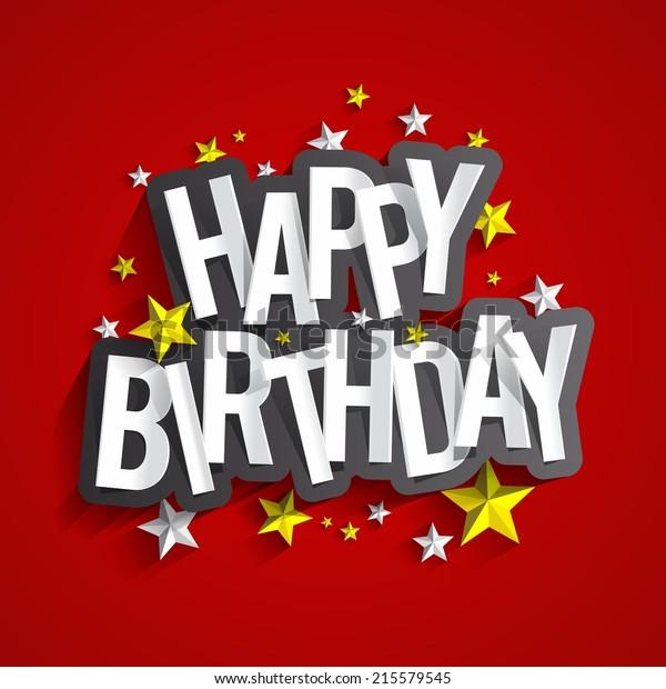 Ilustración de vectores de tarjetas de felicitación por cumpleaños