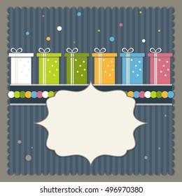 Happy Birthday Greeting And Invitation Card