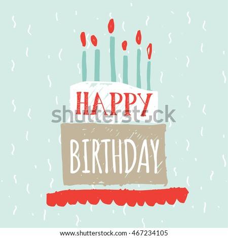 Happy Birthday Greetings Card Stock Vector Royalty Free 467234105