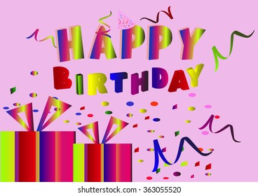 Happy Birthday greetings on a festive background