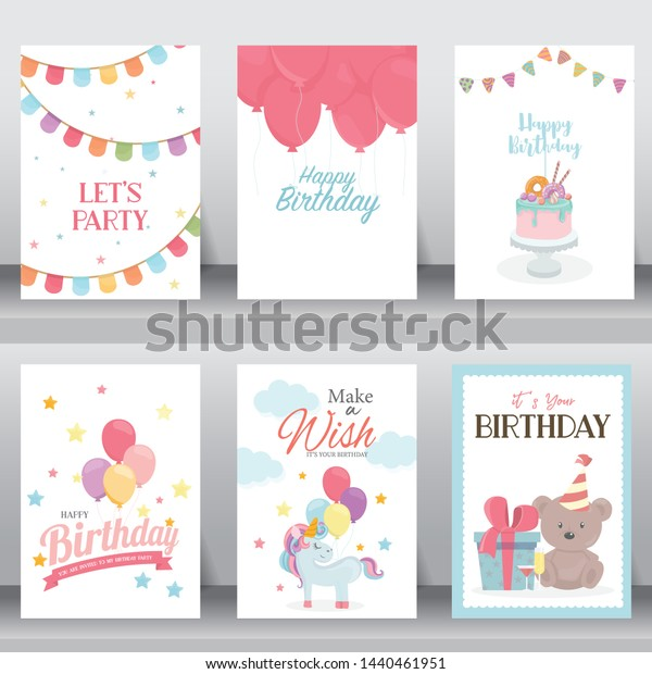 Happy Birthday Holiday Baby Shower Celebration Stock Vector
