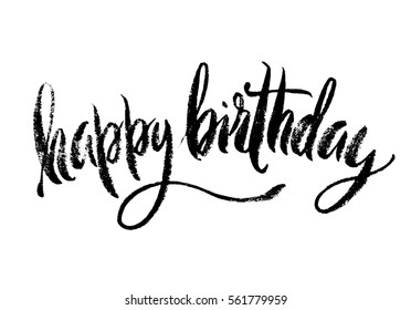 Happy Birthday inscription with halftone effect. Isolated on white background.