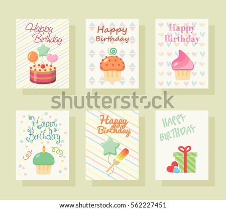 Happy Birthday Invitation Card Baby Greeting Stock Vector Royalty