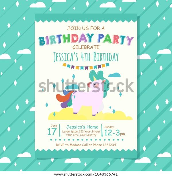 Happy Birthday Invitation Card Banner Flyer Stock Image