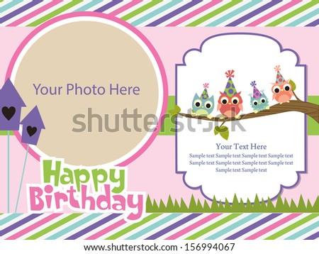 Happy Birthday Invitation Card Design Vector Image Vectorielle De