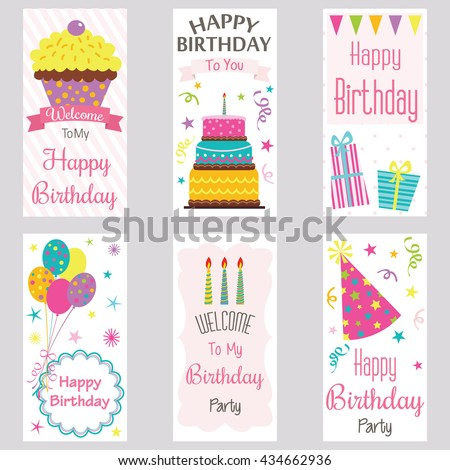 Happy Birthday Invitation Card Birthday Greeting Card Welcome Image