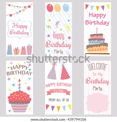 Happy Birthday Invitation CardBirthday Greeting CardWelcome Party BannerParty