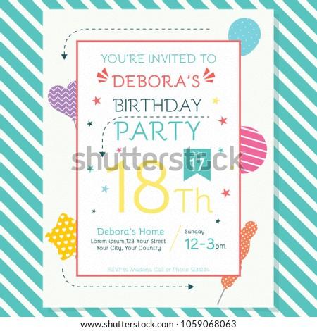 Happy birthday invitation flyer stock vector royalty free happy birthday invitation flyer filmwisefo