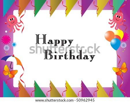 Happy Birthday Kid Background