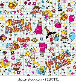 Happy Birthday kids party pattern
